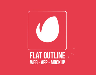 Flat Outline Web App (404x316)